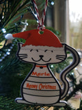 Cats Personalised Christmas Tree Bauble