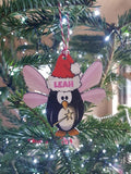 Fairy penguin Personalised Christmas Tree Bauble