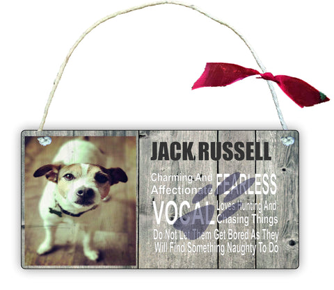 Wooden Gift Hanging Wall Door Sign Plaque Decoration Jack Russell GP27