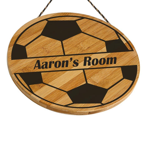 Aaron Customised Football Wooden Door Sign Gift Personalised with Any Name