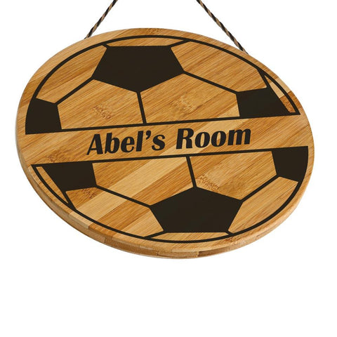 Abel Customised Football Wooden Door Sign Gift Personalised with Any Name