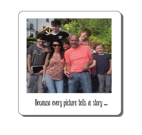 PERSONALISED PHOTO ANY TEXT COASTER FRIEND SISTER MUM BIRTHDAY VALENTINE GIFT