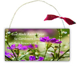 GP15 Gift Hanging Wall Door Sign Plaque Decoration God made rainy days so gardeners