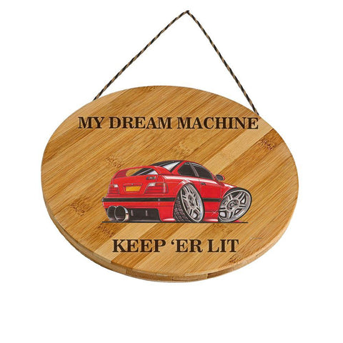 BMW E36 M3 Customised Car Wooden Sign Gift