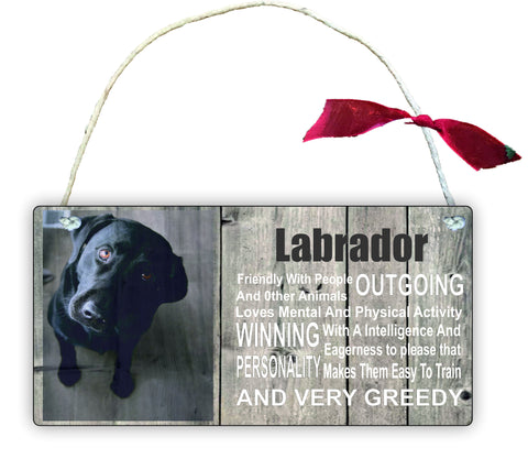 Gift Hanging Wall Door Sign Plaque Decoration Labrador Retriever GP26
