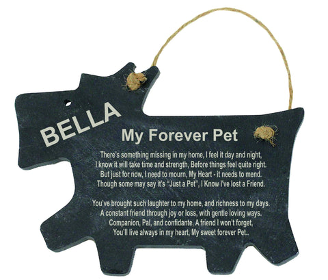 Dog Memorial Personalised Slate - My Forever Pet
