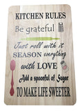 Kitchen Rules wooden chopping board