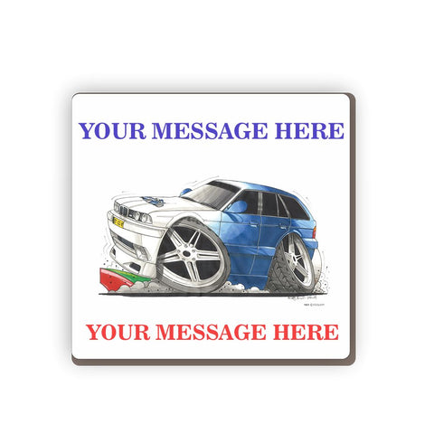 BMW M5 Personalised Cartoon Car Coaster