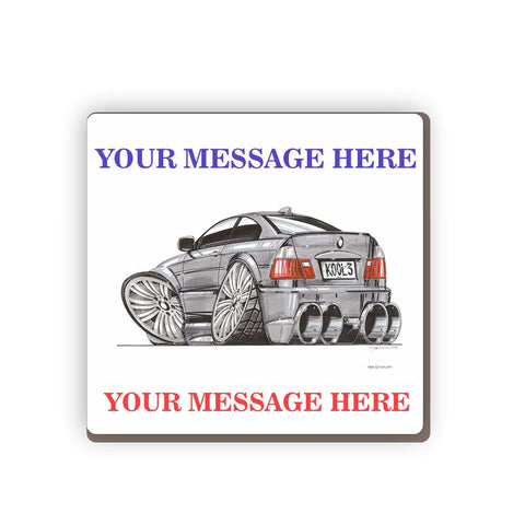 BMW M3 Personalised Cartoon Car Coaster