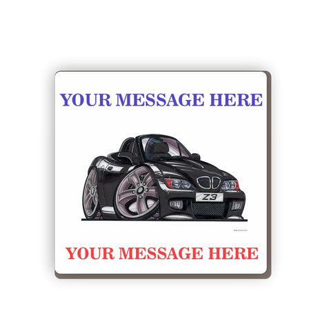BMW Z3 Personalised Cartoon Car Coaster