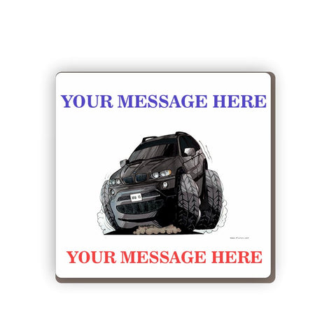 BMW X5 Personalised Cartoon Car Coaster