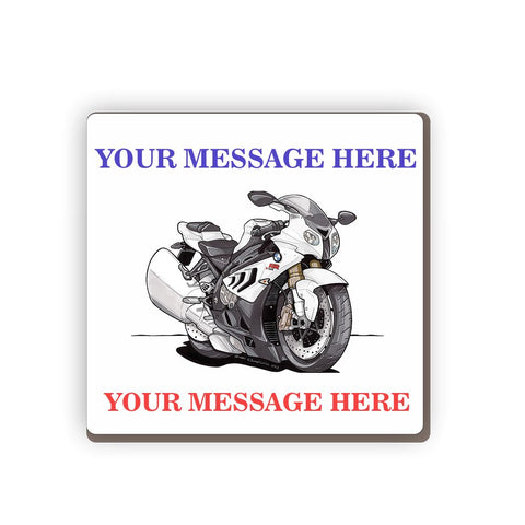BMW S10R Personalised Cartoon Car Coaster
