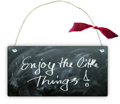 GP63 Gift Hanging Wall Door Sign Plaque Decoration Enjoy The Little Things