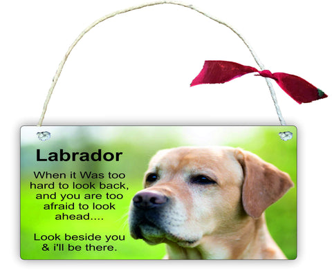 GP33 Gift Hanging Wall Door Sign Plaque Decoration Labrador When it Was too hard to look back
