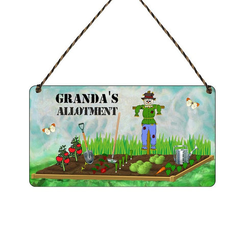 any name Personalised allotment gift sign Grandas