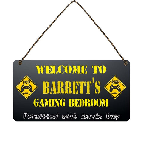any name Personalised gamer bedroom gift sign Barretts