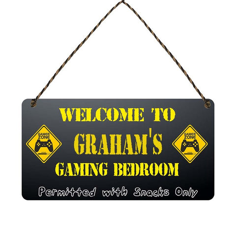 any name Personalised gamer bedroom gift sign Grahams