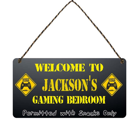 any name Personalised gamer bedroom gift sign Jacksons
