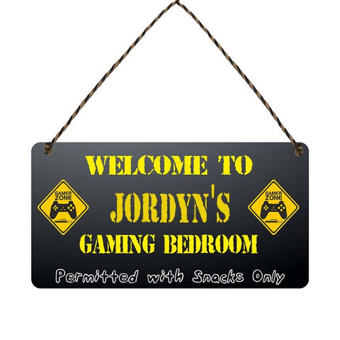 any name Personalised gamer bedroom gift sign Jordyns