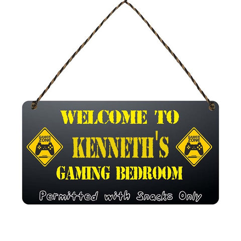 any name Personalised gamer bedroom gift sign Kenneths
