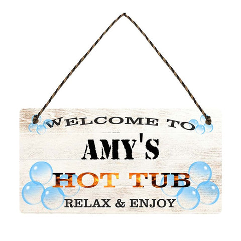 any name Personalised hot tub gift sign Amys