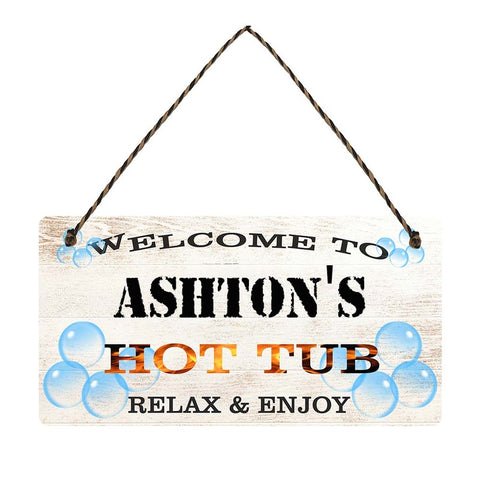 any name Personalised hot tub gift sign Ashtons