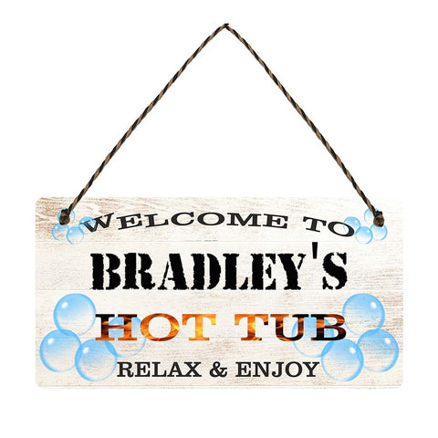 any name Personalised hot tub gift sign Bradleys