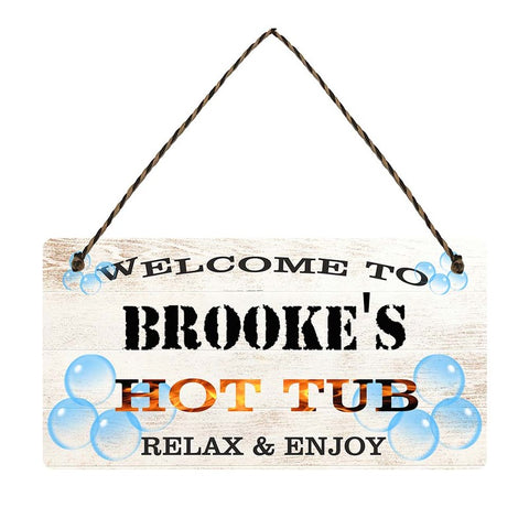 any name Personalised hot tub gift sign Brookes