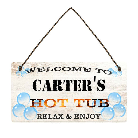 any name Personalised hot tub gift sign Carters