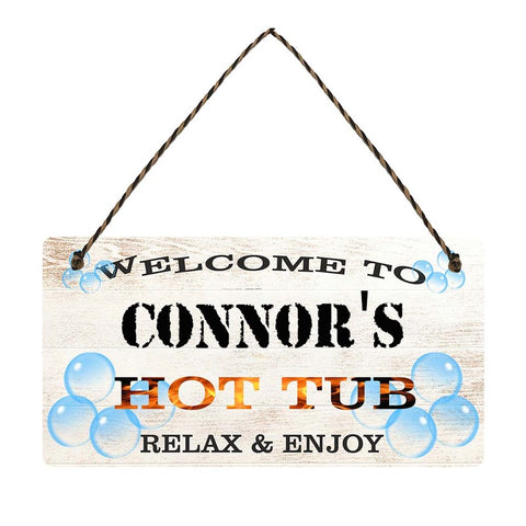any name Personalised hot tub gift sign Connors