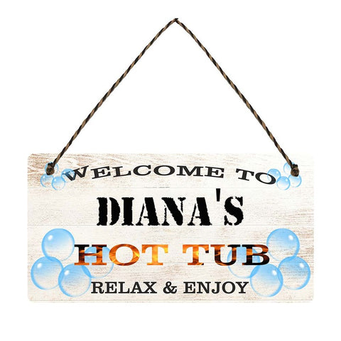 any name Personalised hot tub gift sign Dianas
