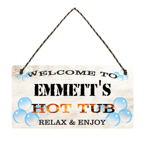 any name Personalised hot tub gift sign Emmetts
