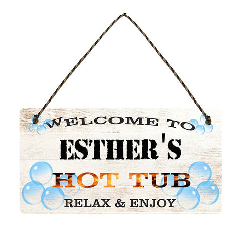 any name Personalised hot tub gift sign Esthers