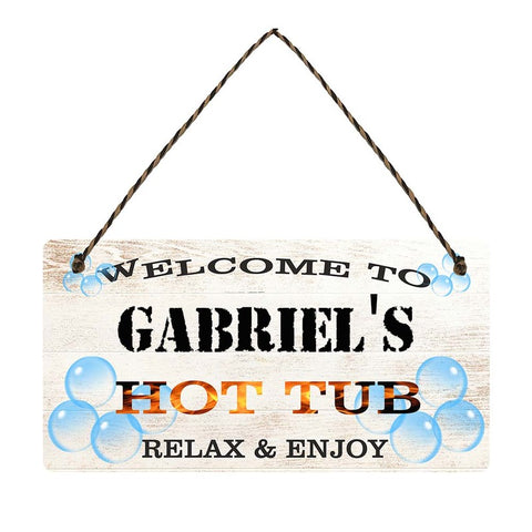 any name Personalised hot tub gift sign Gabriels