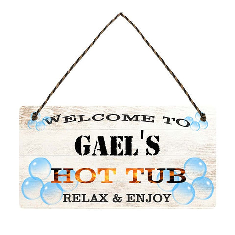 any name Personalised hot tub gift sign Gaels