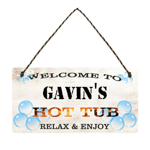 any name Personalised hot tub gift sign Gavins