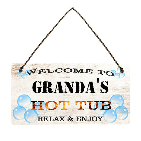 any name Personalised hot tub gift sign Grandas