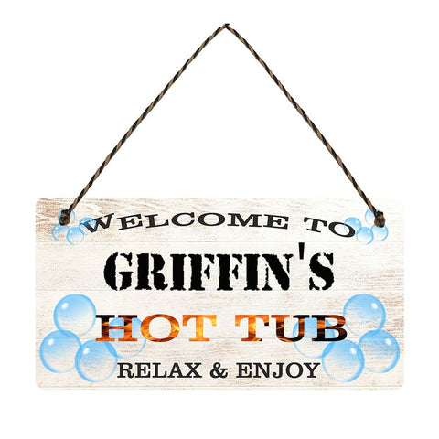 any name Personalised hot tub gift sign Griffins