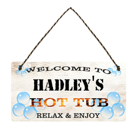 any name Personalised hot tub gift sign Hadleys