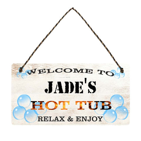 any name Personalised hot tub gift sign Jades
