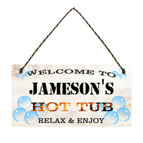 any name Personalised hot tub gift sign Jamesons