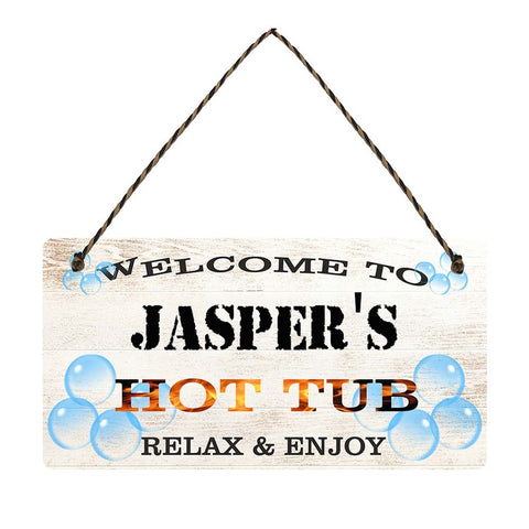 any name Personalised hot tub gift sign Jaspers