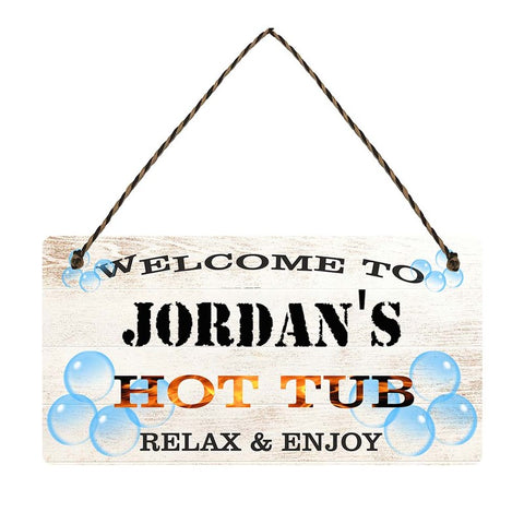 any name Personalised hot tub gift sign Jordans