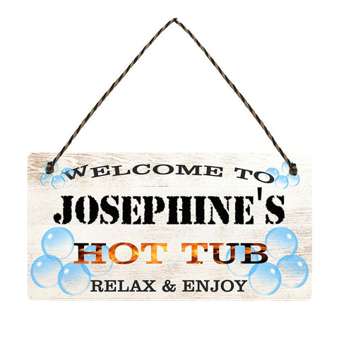 any name Personalised hot tub gift sign Josephines