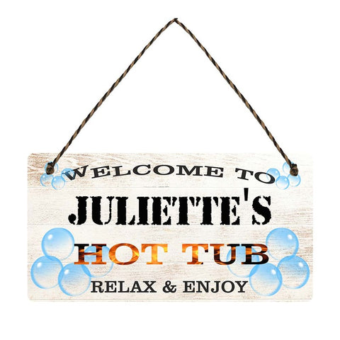 any name Personalised hot tub gift sign Juliettes