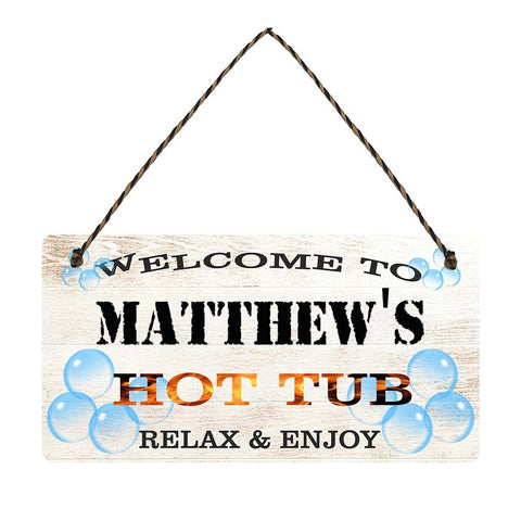 any name Personalised hot tub gift sign Matthews