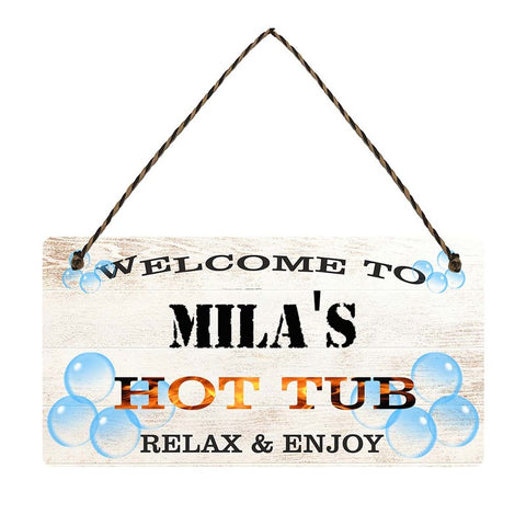 any name Personalised hot tub gift sign Milas