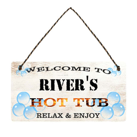 any name Personalised hot tub gift sign Rivers