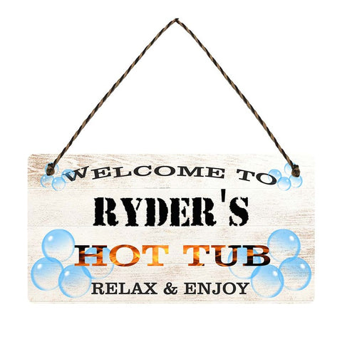 any name Personalised hot tub gift sign Ryders