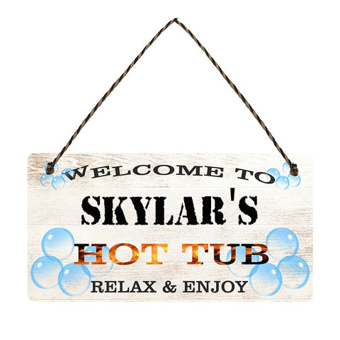 any name Personalised hot tub gift sign Skylars